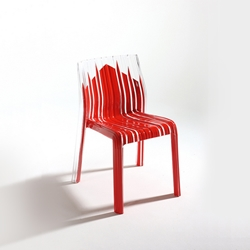 Red Streaked Chair