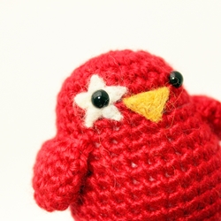 Crochet Red Bird