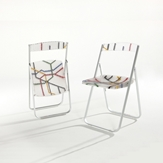 Patterned Folding Chairs -