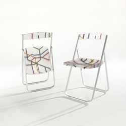 Patterned Folding Chairs