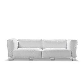 White Plush Couch