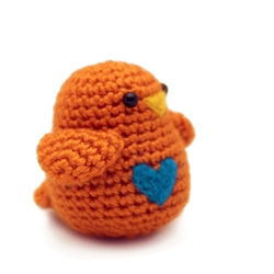 Crochet Orange Bird