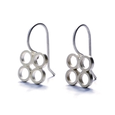 Silver Circle Earrings -